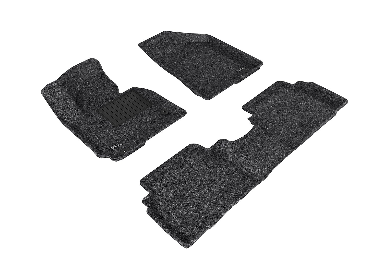 Classic Carpet 3D MAXpider All 2 Row Custom Fit Floor Mat for Select Hyundai Tucson Models Black U-Ace L1HY05502209