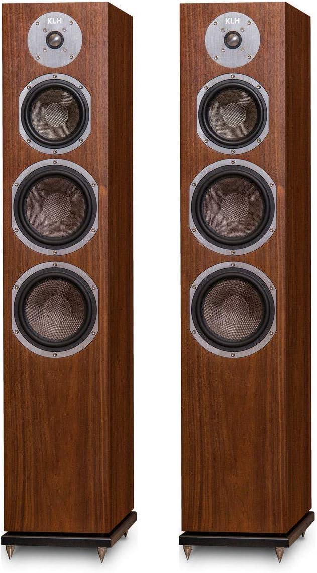 3. KLH Kendall Floorstanding Loudspeakers - Pair (Walnut)