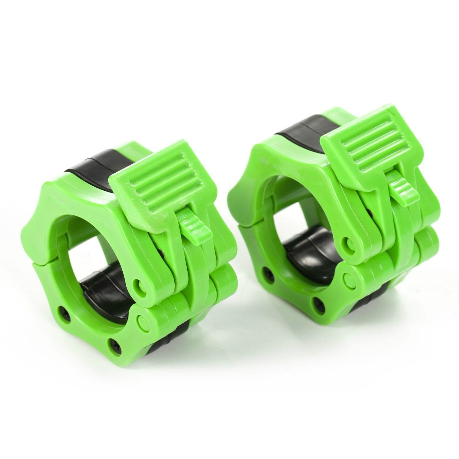 Workouty Pair of 2'' Olympic Barbell Collar Quick Release Barbell Clamp Lock Jaw for WeightLifting Crossfit Gym Exercise (Green)