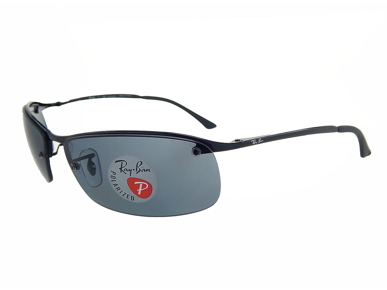 3836b17ddf8 New Ray Ban RB3183 002 81 Black  Grey Gradient 63mm Polarized Sunglasses   Amazon.co.uk  Clothing
