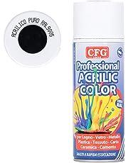 Bomboletta spray acrilico professionale NERO LUCIDO 400 ML - RAL 9005