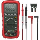 Dr.meter Digital Multimeter Tester Non-Contact Voltage Detection Amp Ohm Volt Multi Meter, Live Line, Temperature Measurement, with LCD Backlit (Standard Multimeter)