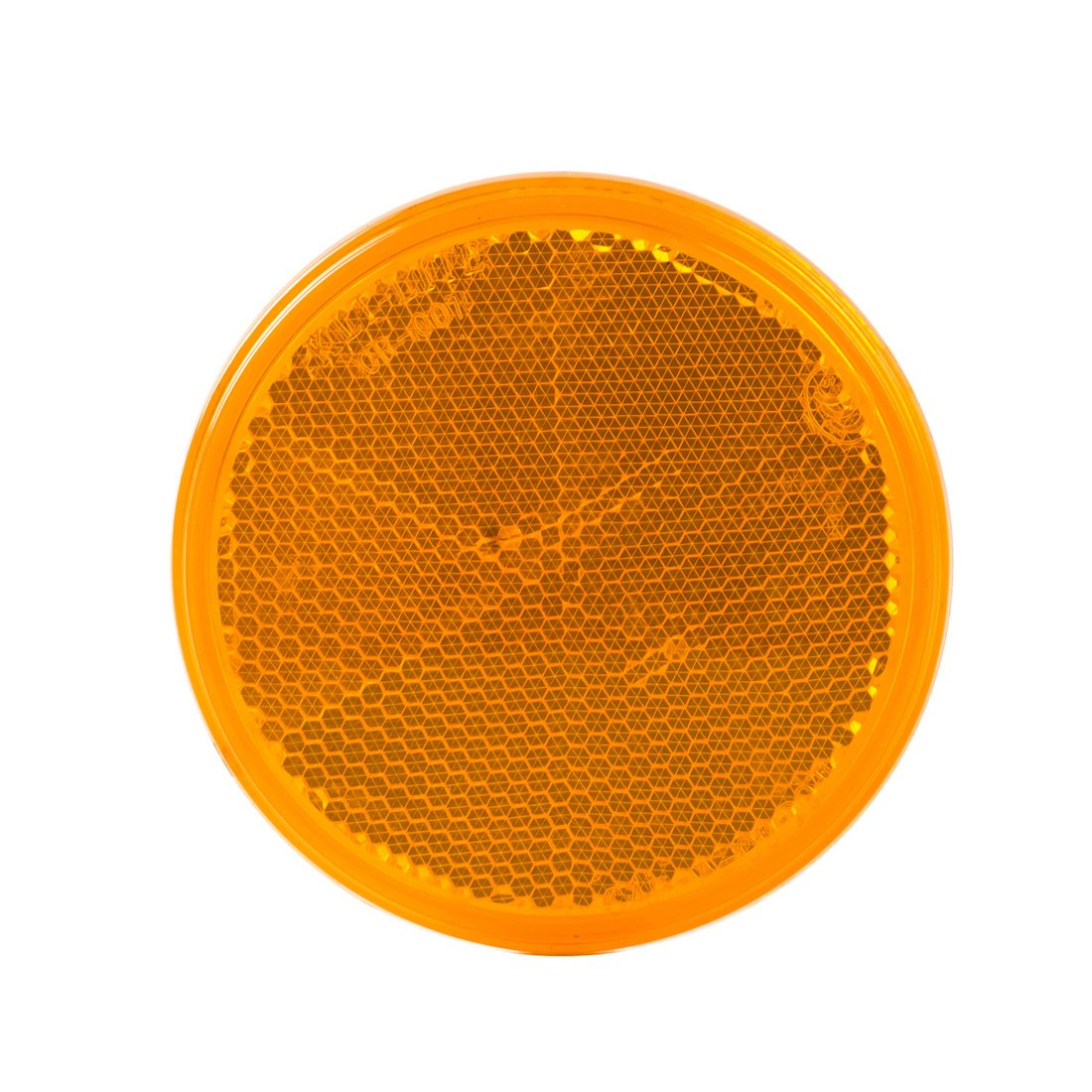 WildAuto 3.25 Inch Light Reflector for Trailers Container Trucks Buses 4PCS//Pack Amber