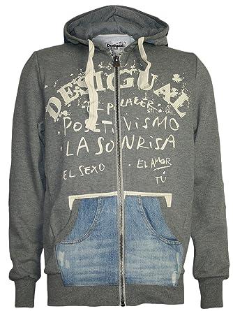 Großhandelsverkauf heiß-verkauf freiheit außergewöhnliche Auswahl an Stilen DESIGUAL Herren Designer Hoodie Pullover - PACO -XXL: Amazon ...