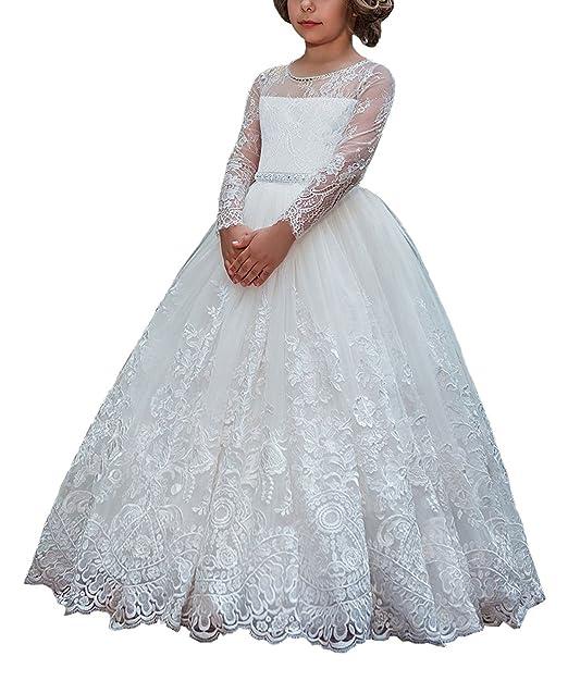 Amazon.com: WDE - Vestido de primera comunión para niñas con ...