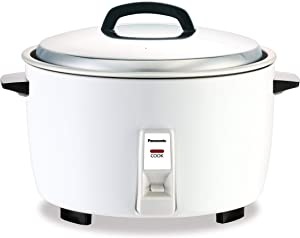 Panasonic Commercial Automatic Rice Cooker SR-GA421, 23-Cup (Uncooked), Stainless Steel, White