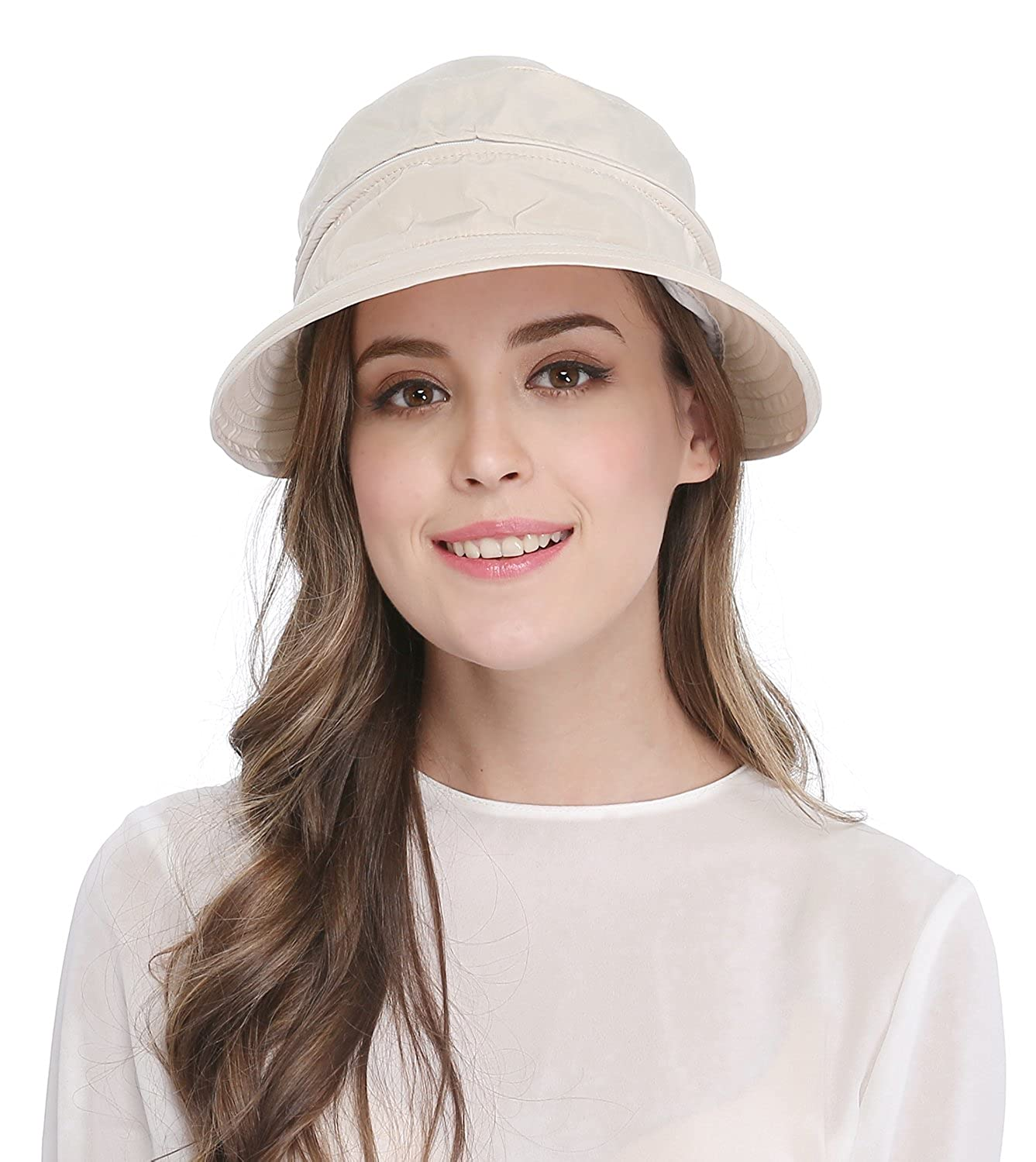 cf508ca44c5 Women s Big Wide Brim Sun Hat UV Protection Visor Sun Hat Lightweight Golf  Folding Hat