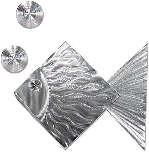 Statements2000 3 Piece Set Decorative Metal Fish Tropical Metal Wall Art by Jon Allen Metal Art, Island Time, Silver
