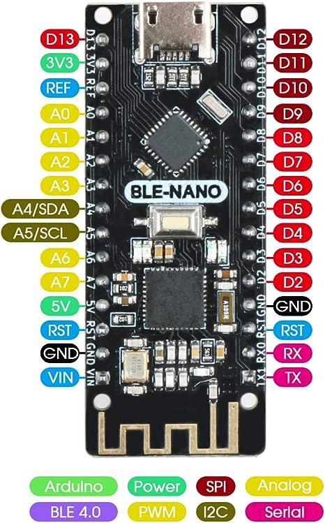 Keywish Bluetooth Nano para Arduino Ble Nano V3.0, Mirco USB Board ...