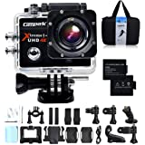 Campark® 2.0 Inch Wifi 4K Action Camera Helmet Camera Underwater 170 Degree Wide Angle Camera 1080P Full HD DV Camcorder HDMI Output Time Lapse Slow Motion (£19 Gift Included - Professional Case + 2 Batteries)