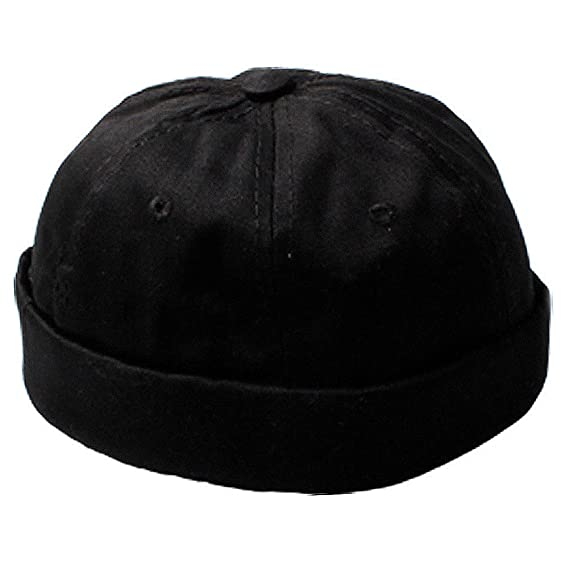e3cd7661921a7 Men s Black Fashion Miki Cap Small Cotton Beanie Hat  Amazon.in  Clothing    Accessories