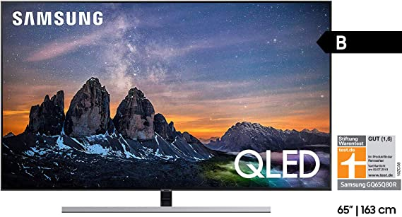 Samsung GQ65Q80RGTXZG 163 cm (65 Pulgadas) TV Plana/Flat QLED Q80R (2019): Amazon.es: Electrónica