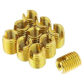 1//4-20 Brass Push in Threaded Insert 0.5 Long 20 pcs