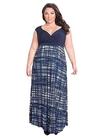 0e37daeceb IGIGI Womens Plus Size Empire Waist Full Length Evening Maxi Dress ...