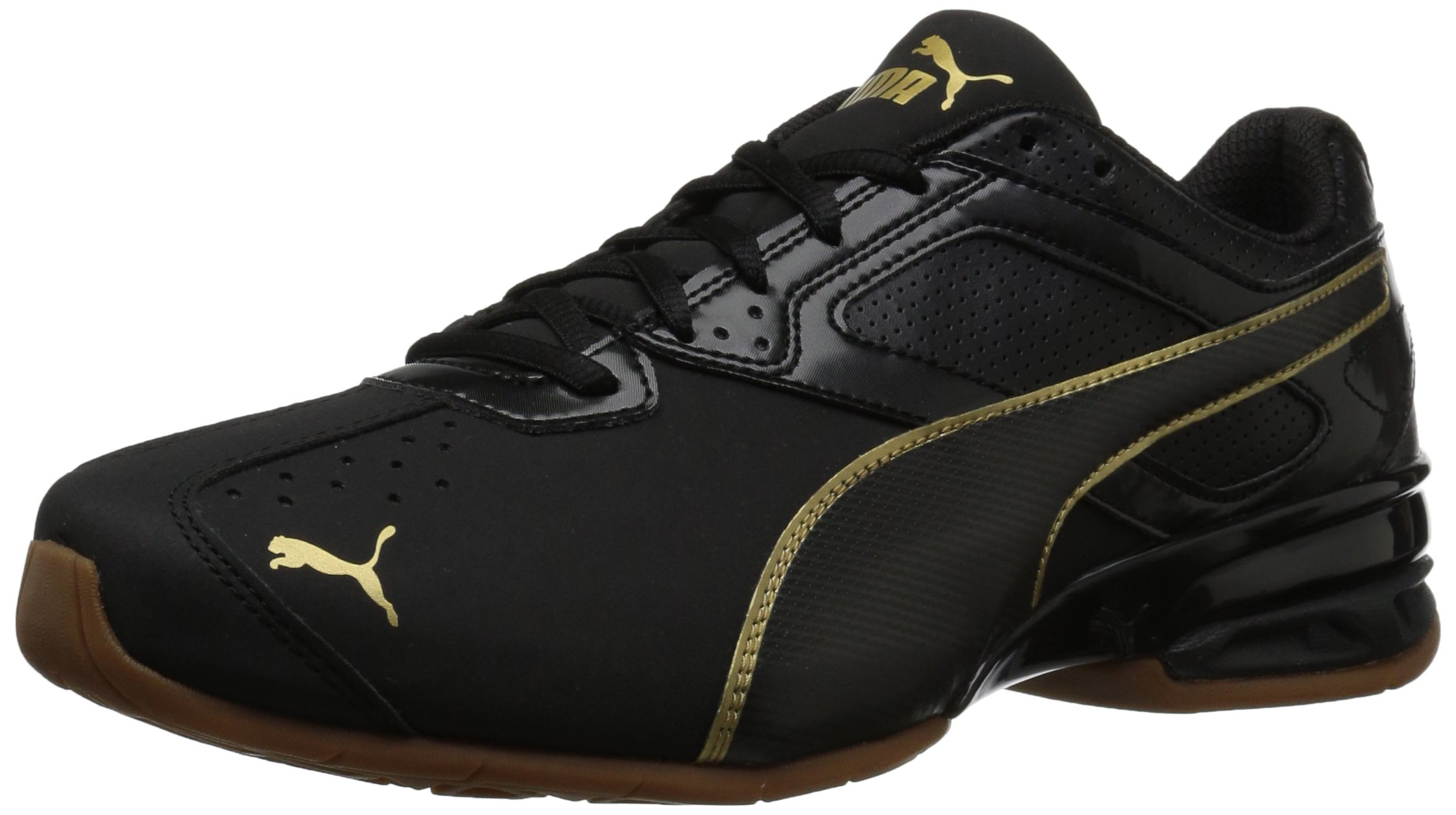 PUMA Women's Tazon 6 WN's FM Sneaker, Black Team Gold, 8.5 M US