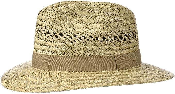 Cappello di Paglia con Fascia in Gros-Grain Cappello in 100/% Paglia M Lipodo Traveller Cappello di Paglia da Uomo Prodotto in Italia L e XL Cappello da Sole in S