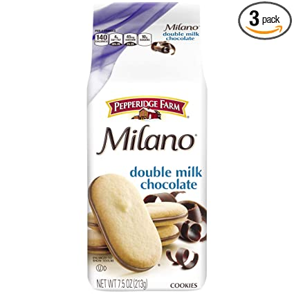 Amazon Com Pepperidge Farm Milano Double Milk Chocolate Cookies 7 5 Ounce Pack Of 3 Packaging May Vary Grocery Gourmet Food