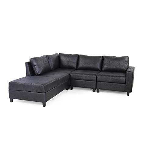 Amazon.com: Kama Chaise Sectional Sofa Set, 4-Seater, Hidden ...