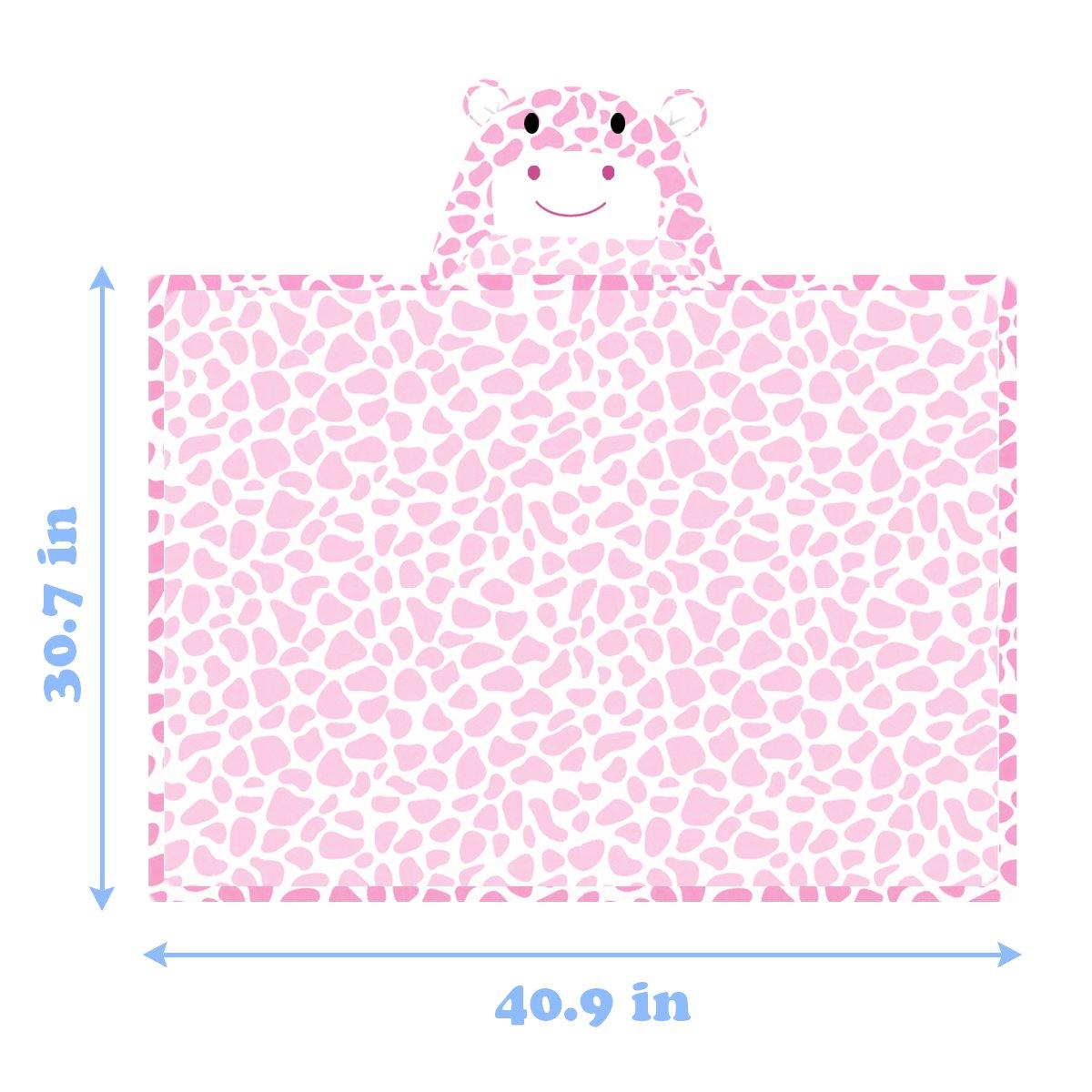 Mture toalla de ba/ño con capucha manta para beb/é poncho de microfibra,/c/álido y c/ómodo rosa rosa Talla:Bademantel Rosa Albornoz