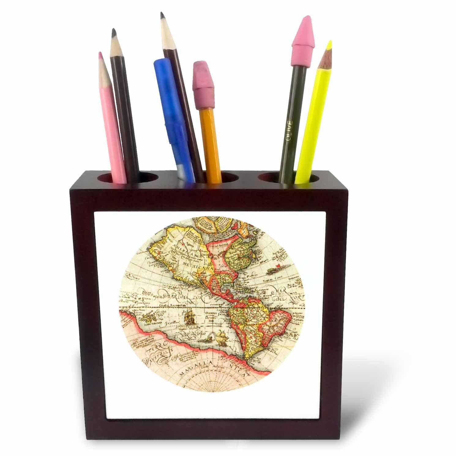 3dRosa PH 34893 Kratzbaum 1 Old map-Tile Stifthalter, 12,7 12,7 12,7 cm B006GT4F8W     | Ausreichende Versorgung  a18174