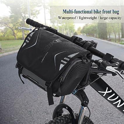 Vbestlife Bicycle Handlebar Bag Waterproof Cycling Bicycle Bike Basket Front Frame Tube Handlebar Bags Lagre Capacity Bike Single Shoulder Bag Case Accessory