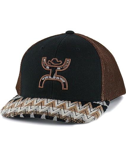 841ac9aa6 Hooey Hat - 'Tut' Aztec Print Trucker Hat - Black/Brown