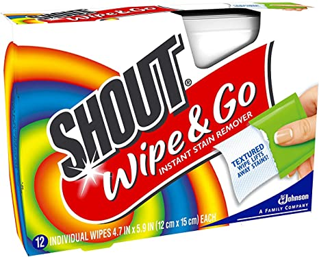 Shout Wipes - Portable Stain Treater Towelettes
