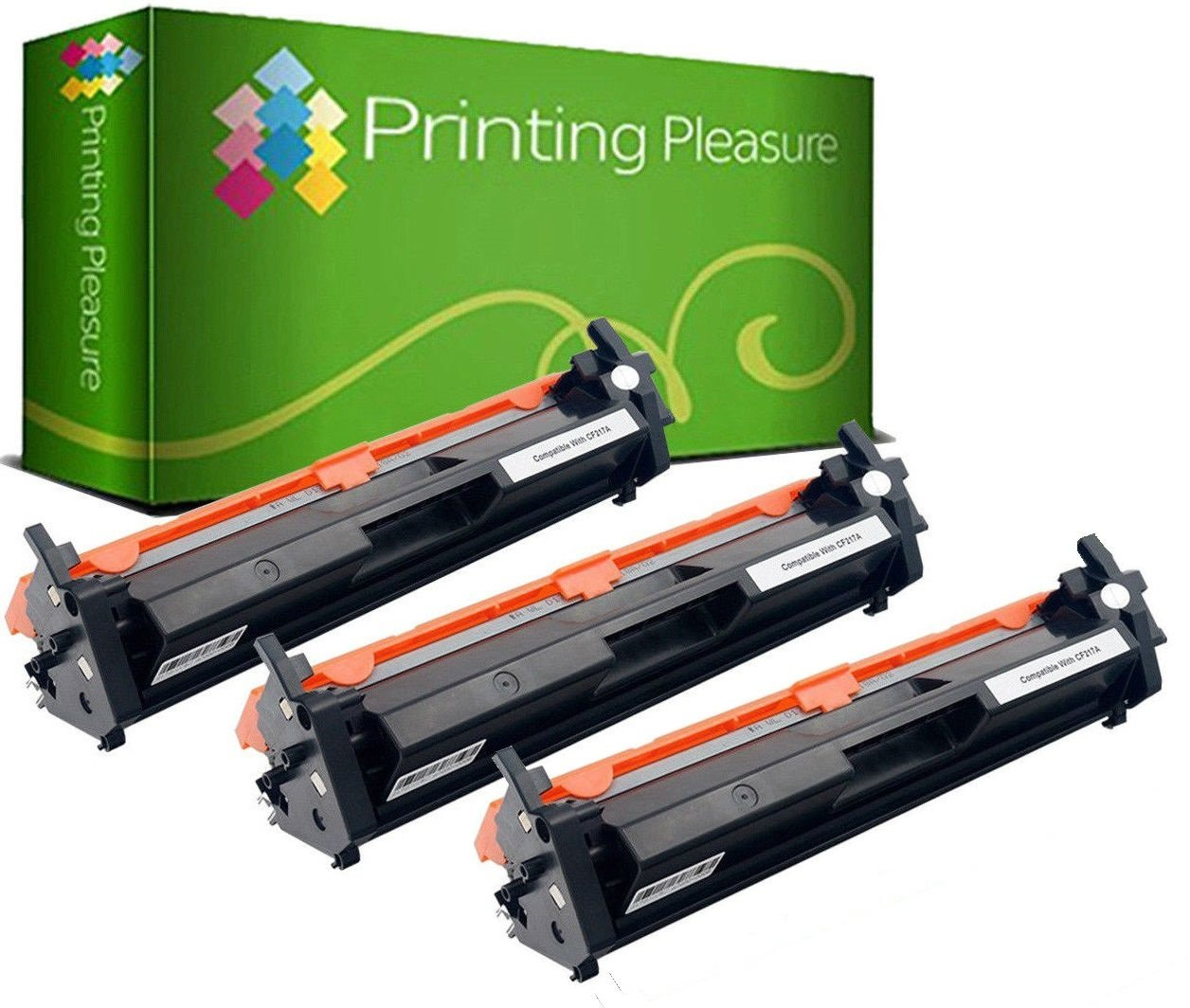 Printing Pleasure 2 Compatibles CF217A 17A [con Chip] Cartuchos de ...