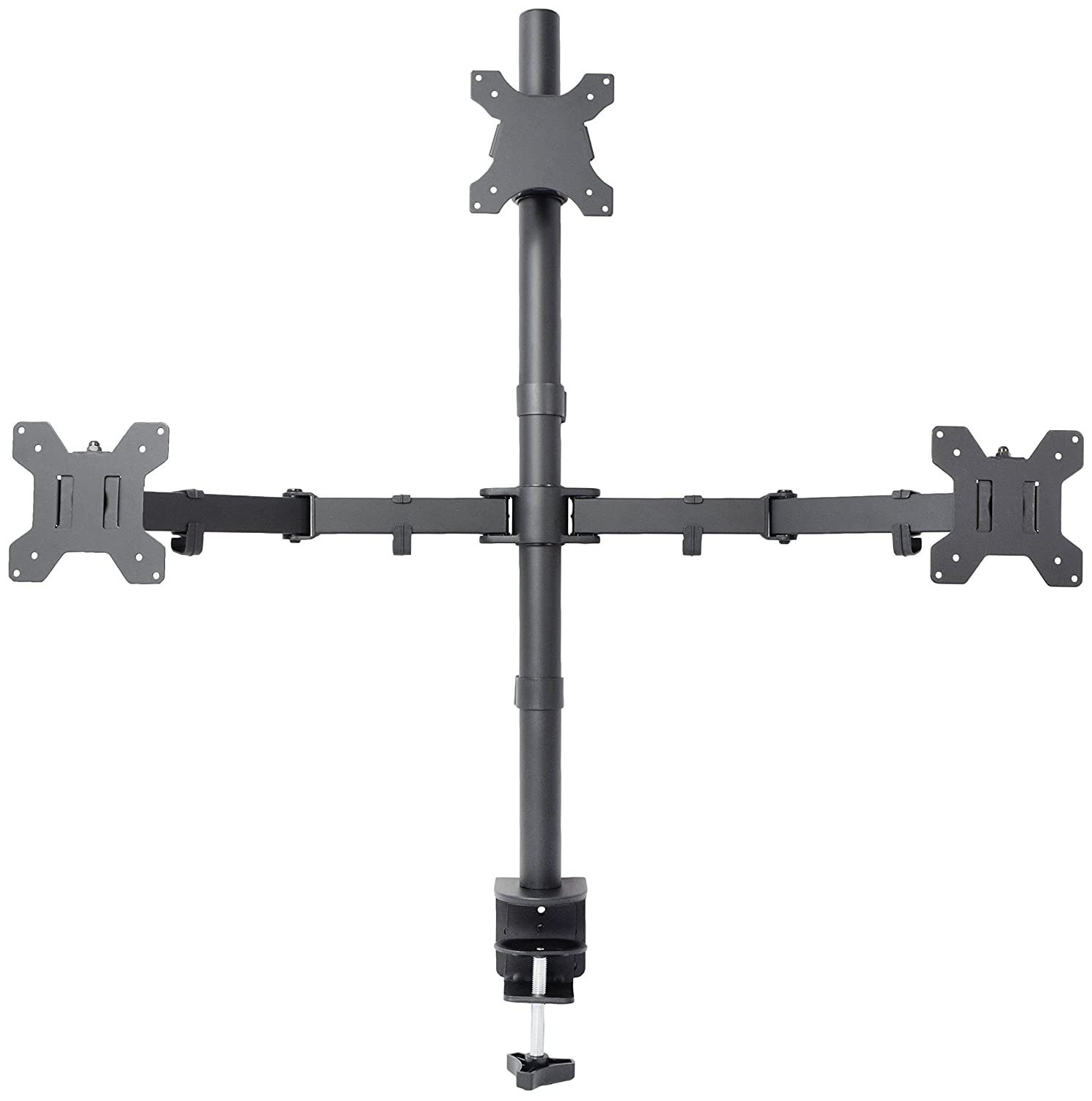 Amazon com vivo triple lcd monitor desk mount stand heavy duty fully - Amazon Com Vivo Triple Lcd Monitor Desk Mount Stand Heavy Duty Fully Adjustable 3 Screens Up To 27 Stand V003t Computers Accessories