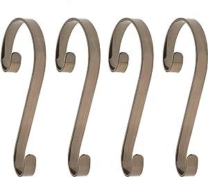 Haute Decor Stocking Scrolls Stocking Hanger - 4 Pack (Oil-Rubbed Bronze)
