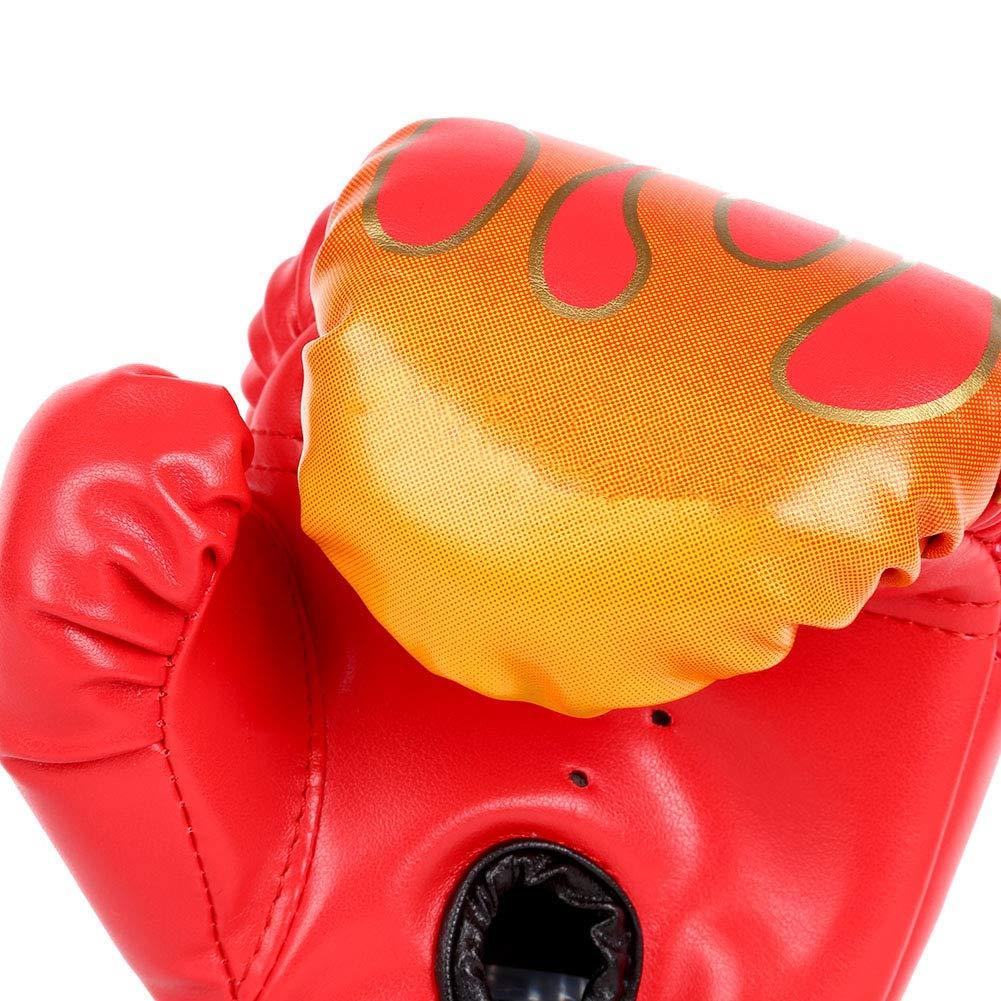 Leezo Gants de boxe pour enfant Gants de frappe Sac de frappe Combat Entra/înement