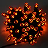 Mr Crimbo 100 LED Halloween String Fairy Lights House Home Party Orange Decoration