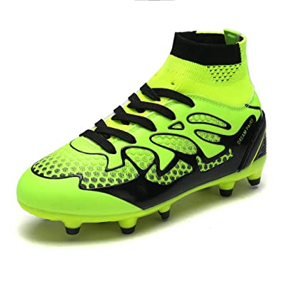 DREAM PAIRS Toddler 160858-K Lemon Green Black Fashion Soccer Football Cleats  Shoes Size 10 ccd108f6a8e