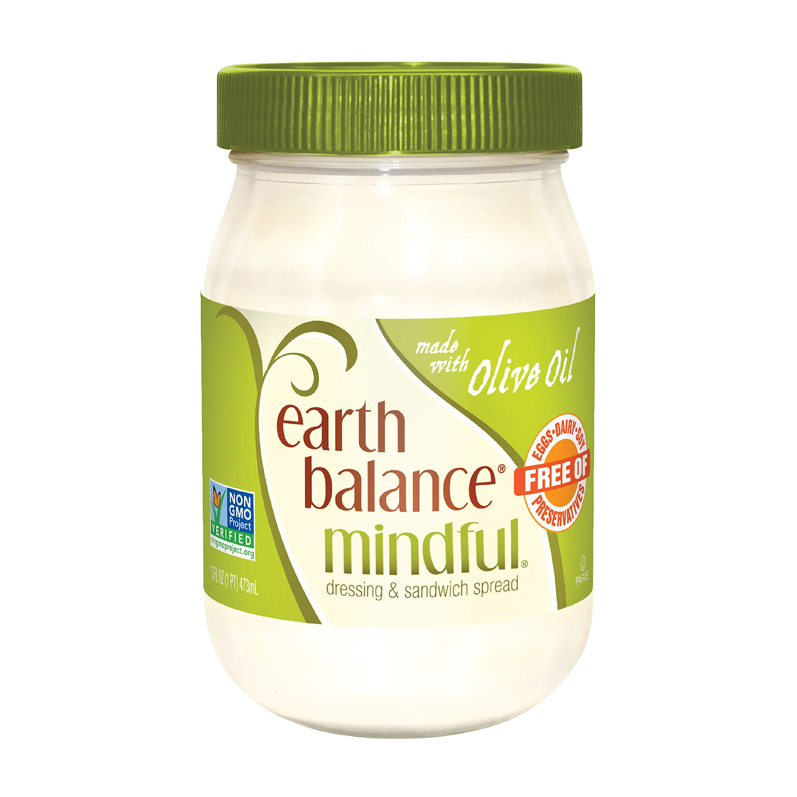 Earth Balance Mindful Dressing & Sandwich Spread, Made With Olive Oil, 16 oz.