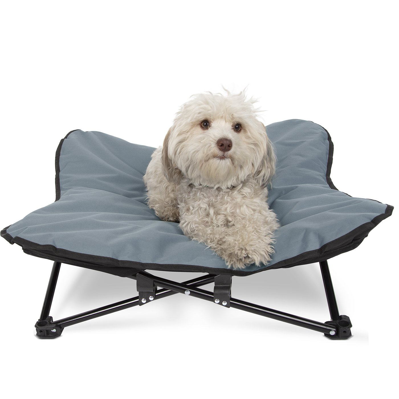 Paws & Pals Elevated Pet Bed for Dogs & Cats Outdoor Indoor Camping Raised Cot - Medium