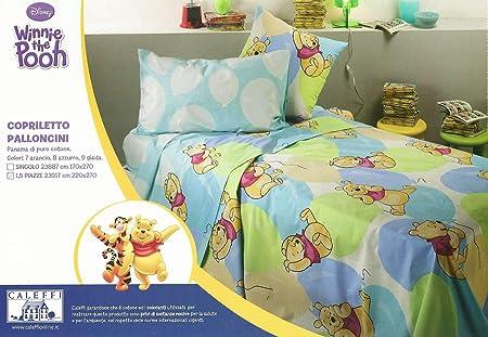 Trapunta Caleffi Winnie The Pooh.Caleffi Copriletto Primavera Estate Non Trapuntato Letto 1 Piazza