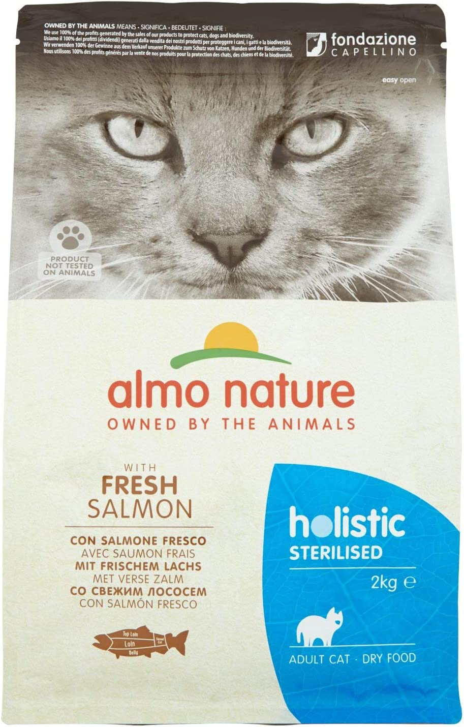 almo nature Cat Dry PFC Holistic Sterilized Salmón - 2000 gr ...