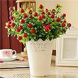 Distinct® 1pc Red Berries Bouquet Artificial Plastic Flowers Christmas Decorations