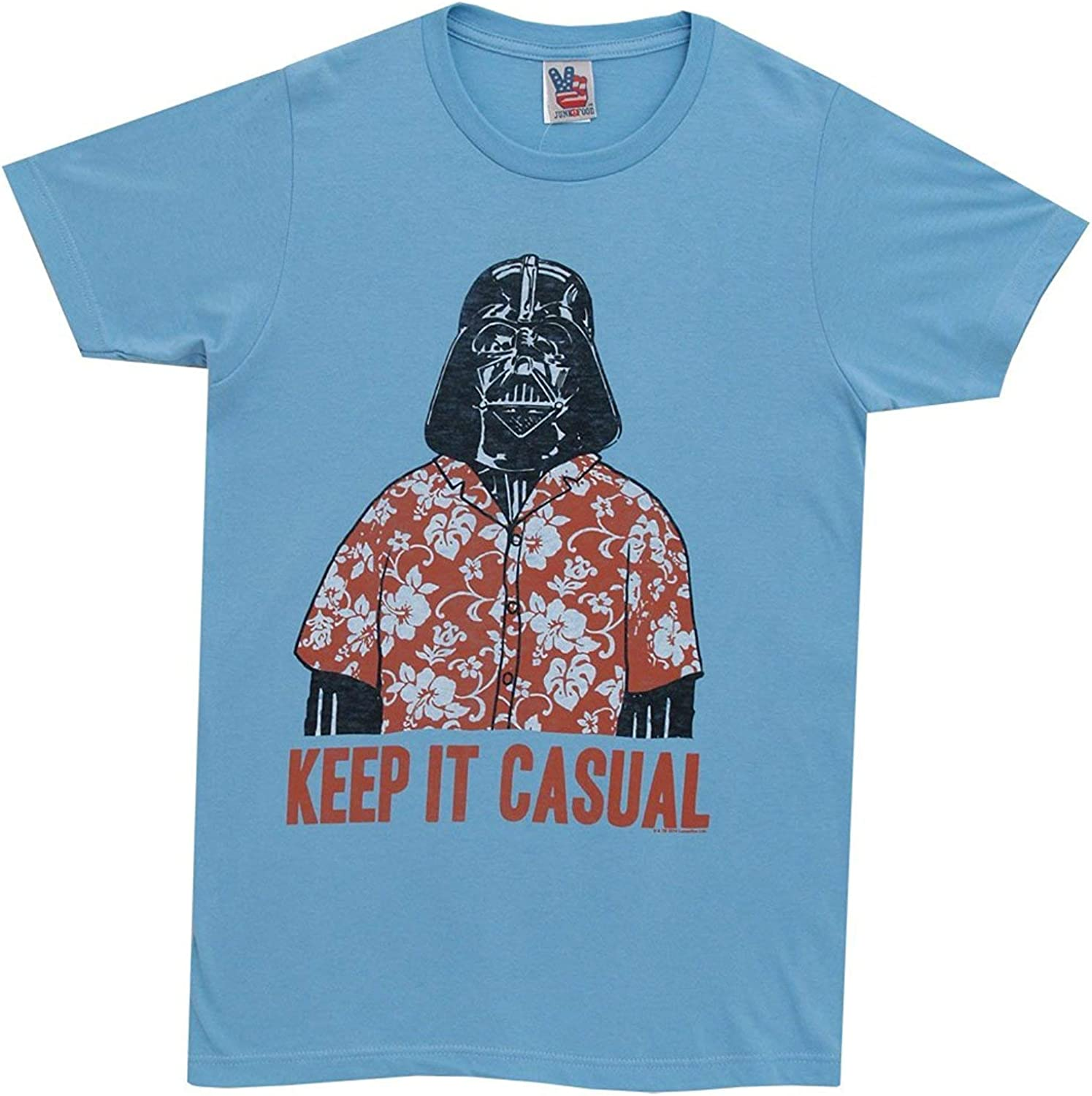 STAR WARS Junk Food Keep It Casual Adult Sky Blue T-Shirt (Adult Medium)