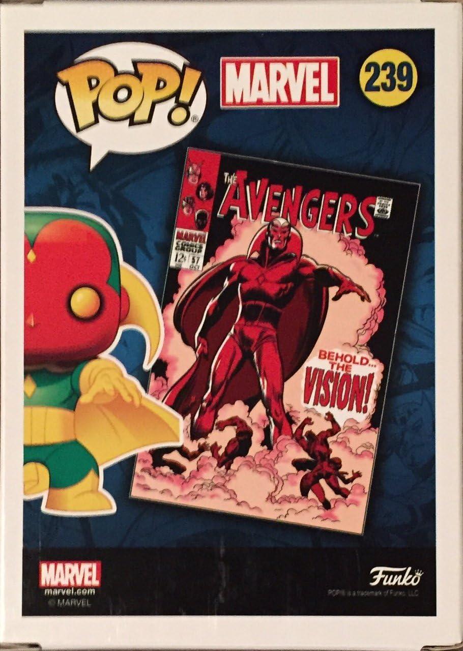 Avengers #57 Marvel: Avengers Vision Vinyl Figure Includes Compatible Pop Box Protector Case Collector Corps Exclusive Funko Pop