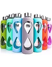 MIU COLOR® 550 ML Botella de Cristal ecológico, sin BPA portátil Sport Botella,