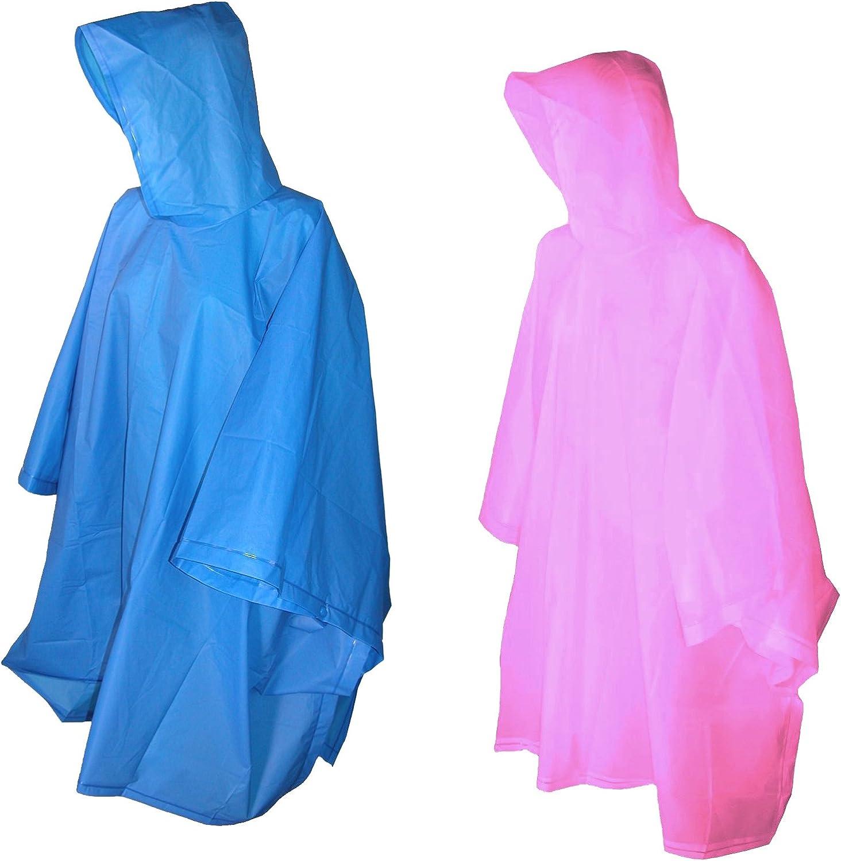 Royal Blue//Pink Totes Raines Childrens Rain Poncho 2 Pack