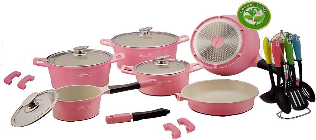 Set De Casseroles Batterie De Cuisine 21 Pieces Rose Tv Publicite