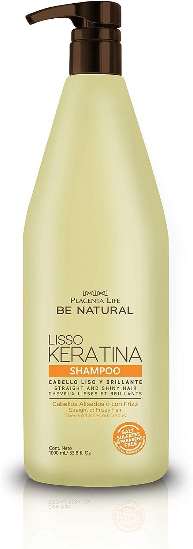 Be Natural - P-life, Champú y Acondicionador (Liso Keratina), 1000 Mililitros