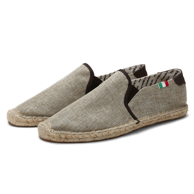 Men's Classic Handmade Canvas and Non-Slip Comfortable Fishing Shoes (6.5(M) US, Khaki)