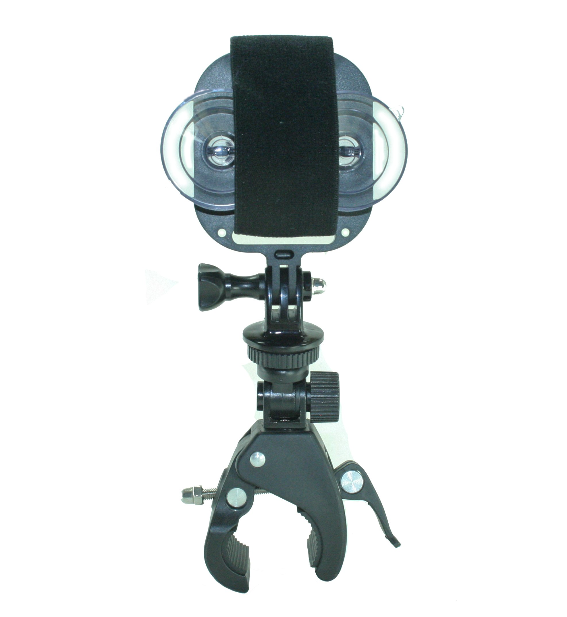 GoPro Style Handlebar Mount with Action Mount Adapter for Smartphone, Operable with Any Smartphone. Strongest Hold on the market. Use a Phone or GoPro. Easy to Use!