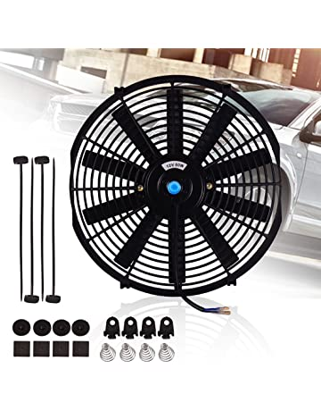 Universal Slim Fan Push Pull Electric Radiator Cooling Fans 12V 80W Engine Fan with Mount Kit