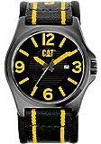 Caterpillar PK.161.61.137 Reloj Análogo de Lujo, para Hombre, negro y amarillo