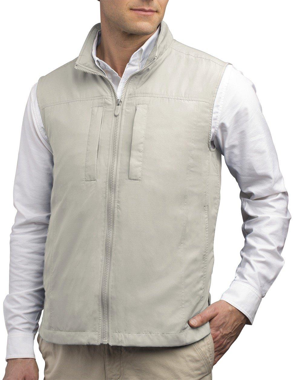 SCOTTeVEST Men's Featherweight Vest - 14 Pockets - Travel Clothing CMT L by SCOTTeVEST (Image #1)