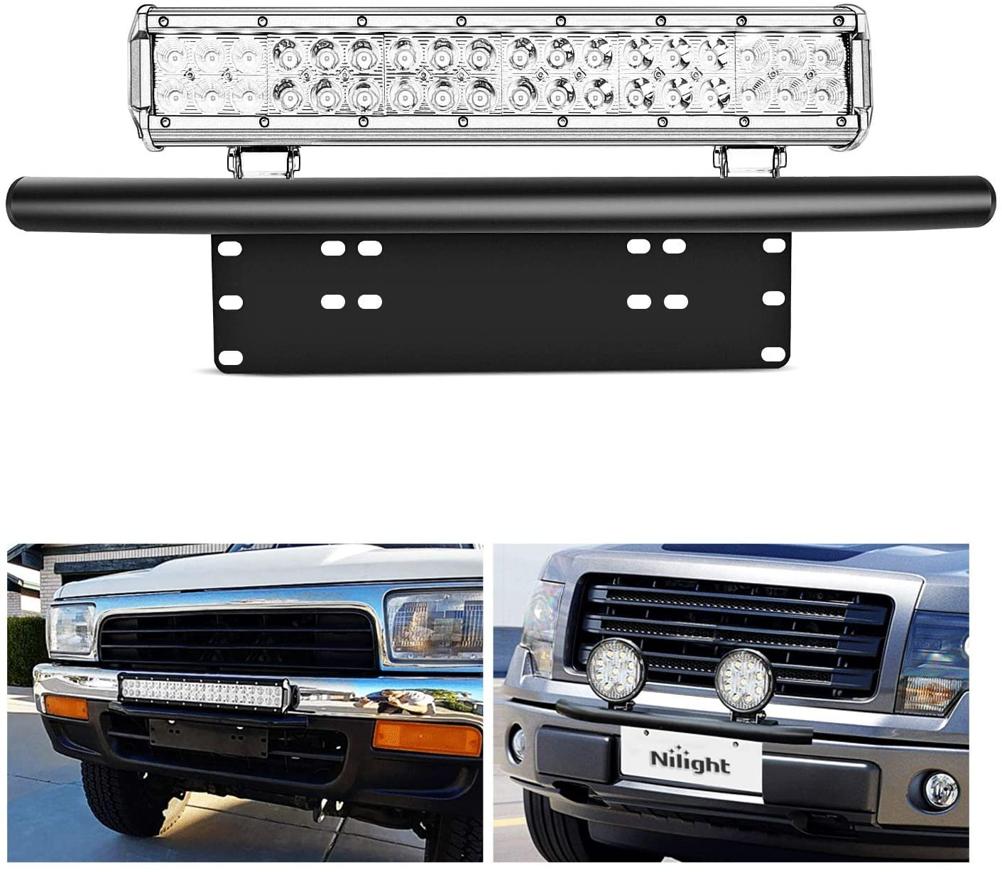 Grade S.S Offroad Bumper License Plate Mount Bracket LED Work Light Available
